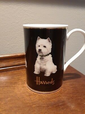 Fabulous Harrods Westy West Highland Terrier Tea Coffee Mug Cup