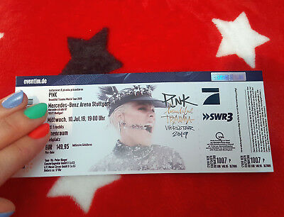 1 Karte / Ticket - P!INK / PINK - 10.07.2019 JULI - STUTTGART - FRONT OF STAGE 1