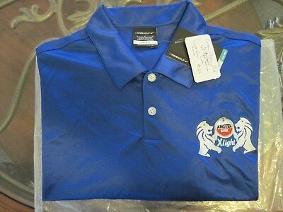 New Lg. Limited Edition Super Rare Nike Amstel XLight Beer Custom Golf Polo!.