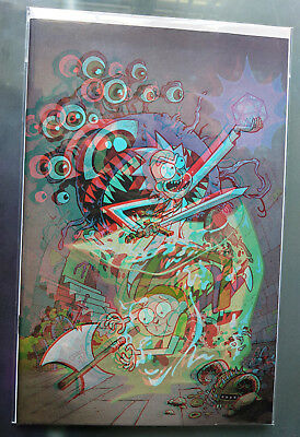 IDW Limited Rick And Morty vs Dungeons & Dragons #1 Rare 3D Variant  only 500!