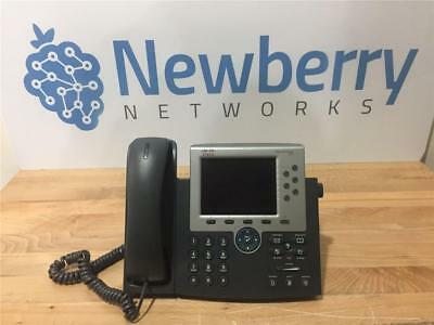 CISCO CP-7965G VoIP Color Display Office Phone W/ Handset 1 year warranty!