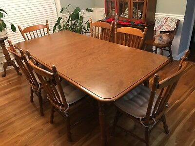 Dining,Hard Rock Maple Table & 6 Chairs, Cochrane