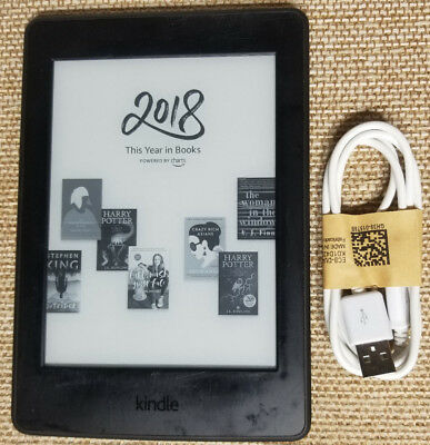 Amazon Kindle Paperwhite 3rd (7th Generation) 6in, WiFi, Black, eReader - w/Ads