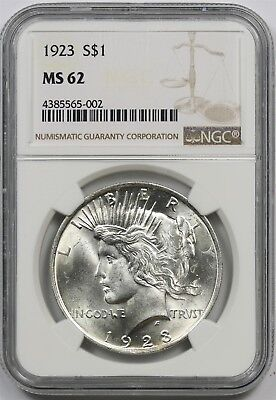 1923 $1 NGC MS 62 Peace Silver Dollar
