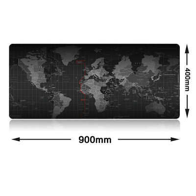90*40*0.3cm Extra Large XXL Size World Map Patern Gaming Mouse Pad For PC Laptop