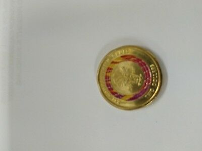 2018 Commonwealth Games $2 Dollar Red Coin, Week 1, Great Condition