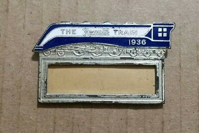 The Rexall Train,Enameled Employee ID Badge,1936