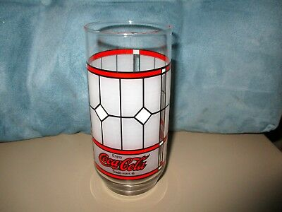 Coca Cola Frosted Window Pane Drinking Glass