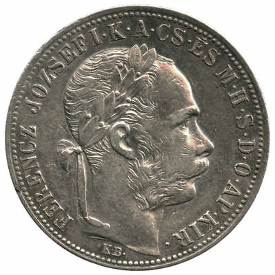 1885 Hungary Silver 1 Forint