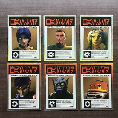 2018 Topps Star Wars Galaxy Wanted Posters Complete Set ~ 6 Cards