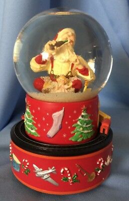 Vintage Coke Snowglobe, Santa, I'd Like To Teach The World To Sing, 1971