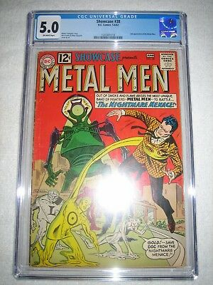 SHOWCASE # 38 CGC 5.0 OW - 2nd APPEARANCE OF THE METAL MEN!!! KEY SILVER AGE!!!