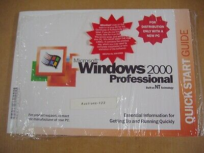 Microsoft Windows 2000 Professional Full Operating System Ms Win Pro=New Sealed=