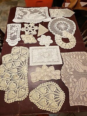 Lot Of 14 Vintage Doily