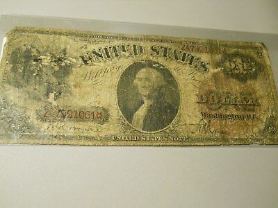 (E-2770) 1917 $1 Large Red Seal Federal Reserve Note