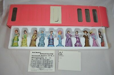 1977 Avon Lady Miniatures Set No 2 Limited Edition Collector Ceramic Figurine ie