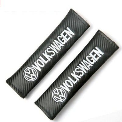 Carbon Fiber Car Seat Safety Belt Cover Shoulder Pads for Volkswagen VW 2pcs