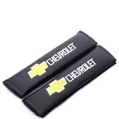 Carbon Fiber Chevrolet Seat Belt Shoulder Pads  2 pcs