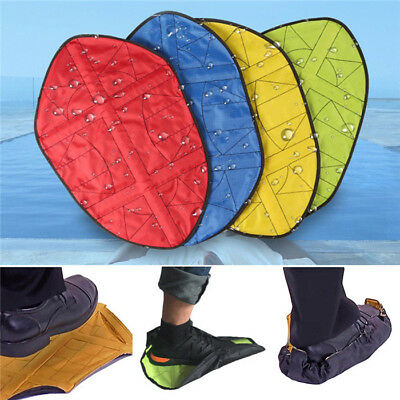 2019 NEW Novelty Step in Sock Reusable One Step Hand Free Automatic Shoe Covers