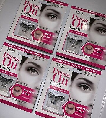 4 Pairs/Boxes Ardell Press On Self-Adhesive w/applicator False Lashes Eyelashes