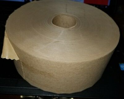 "3"" x 600 GUMMED PAPER WATER ACTIVATED BOX KRAFT PACKAGING TAPE Art or Shipping"