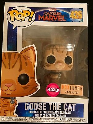 Funko Pop! Flocked Goose The Cat Captain Marvel BoxLunch Exclusive Preorder
