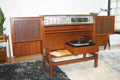 Retro Vintage Pye Stereo Radiogram Working Fully *Delivery Available