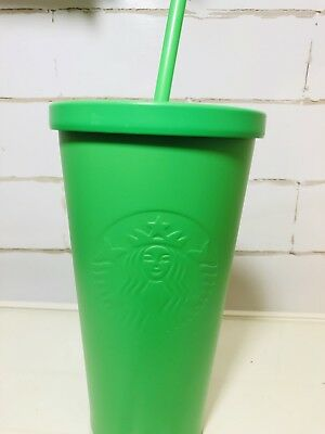 STARBUCKS Kelly Green Matte Stainless Steel Tumbler Cold Cup 16 fl oz  New