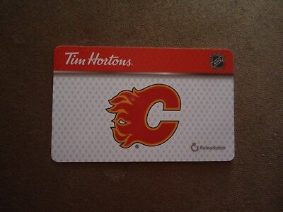 "Calgary Flames 2018 Tim Horton's Gift Card Brand New ""Card is Empty"""