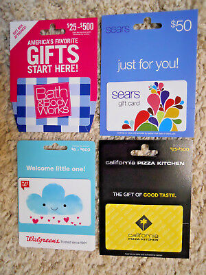 Gift Cards, Collectible, new, unused cards with backing, no value on cards  (XL)