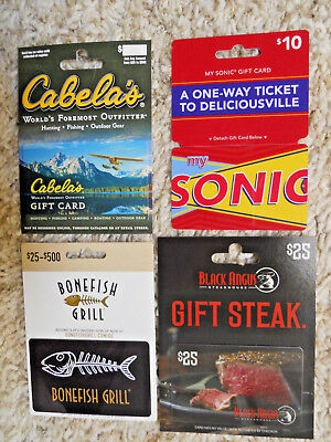 Collectible Gift Cards, four cards with backing, new, unused, no value on cards