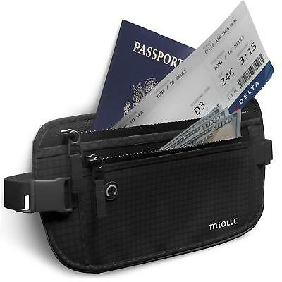 Money Belt for Travel RFID Waterproof Running Waist Pack Hidden Wallet