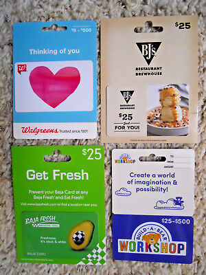 Collectible Gift Cards, new, unused, with card backing, no value on cards  (XP)