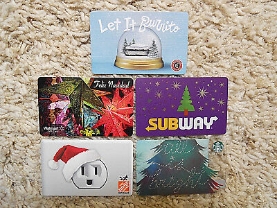 Gift Cards, Collectible, five cards, new, unused, no value on cards     (XU)