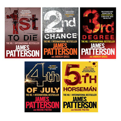 James Patterson Women's Murder Club Series 1 (1 To 5) Collection Set Paperback
