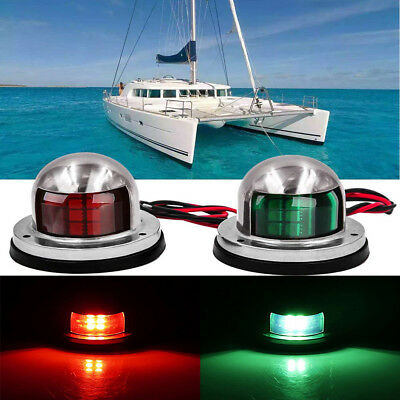 Automobiles & Motorcycles Cheap Sale 1pair 12v Marine Boat Yacht Led Bow Navigation Light Stainless Steel Red Green Sailing Signal Light Atv,rv,boat & Other Vehicle