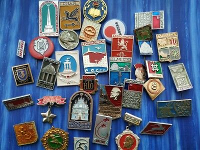 35 old badges from the USSR 1950-1980