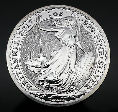 2017 Great Britain Silver Britannia 1oz Coin - 999 Silver