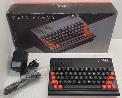 Oric Atmos 48K Home Computer [BOXED] with original PSU. Very rare. Tangerine