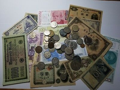 World Currency Paper Lot And World Coin Combo#113