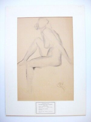 HENRY G KELLER American Drawing Nude Signed Modern Contemporary Ohio Cleveland