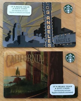 STARBUCKS Los Angeles City of Angels Hollywood California redwoods PCH Gift Card