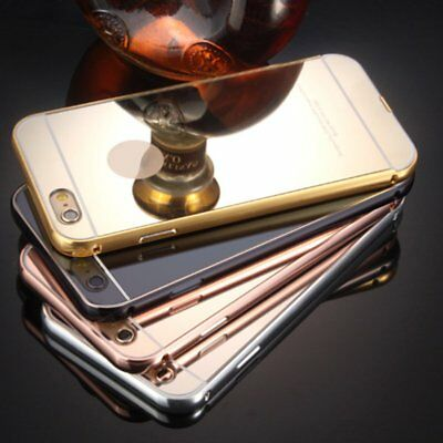 Mirror Effect Metal Plating Case For Iphone Metal Frame Protection Back Cover T9