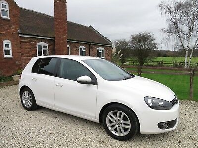 2011 11 Volkswagen Golf MK6 GT TDi Highline 5 DR 6 Speed Manual One Owner White