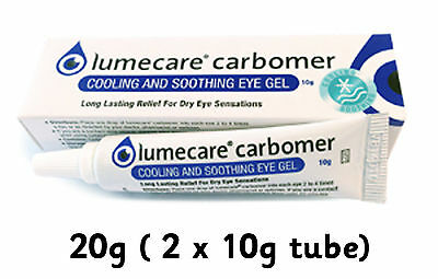 Lumecare Long Lasting Tear Gel 20g (2 x 10) carbomer for Dry Eye like Viscotears