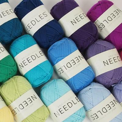 Needles acrylic yarn 8 Ply - 100g multi colours