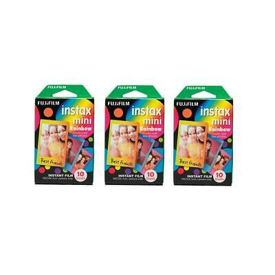 Fujifilm 3 Pack Instax Mini Rainbow Film, 10 Sheets #16437401 3