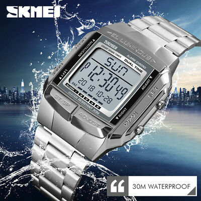SKMEI Watch Waterproof Men Sports Watches LED Digital Fashion 5 Alarm Wristwatch