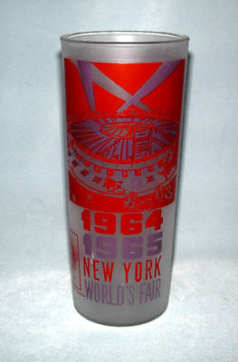 1964-65 New York World's Fair Frosted Drinking Glass - World's Fair Circus