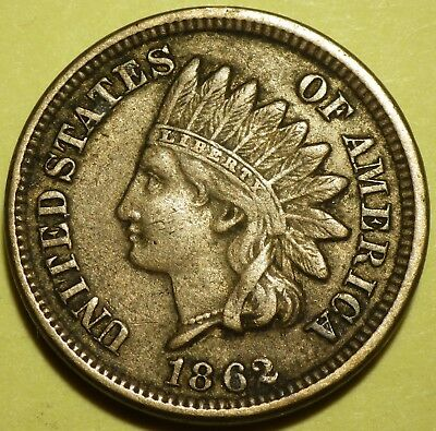 1862 Indian Cent grading Extra Fine